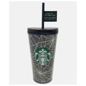 Starbucks Limited Edition Halloween 2021 Glow in the Dark Spider Webs Tumbler 🕸